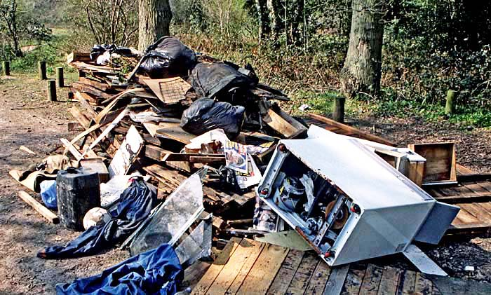 Fly-tipping is an increasing bane